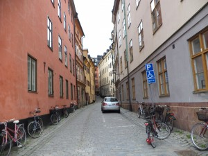 The busy streets of Stockholm are lined with bicycles