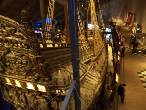 The Vasa, an 1628 warship resurrected from Stockholm harbor where it sank on its maiden voyage