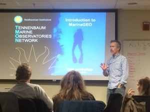 Dr. Emmett Duffy also discussed TMON - the Tennenbaum Marine Observatories Network - program with the ZEN partners