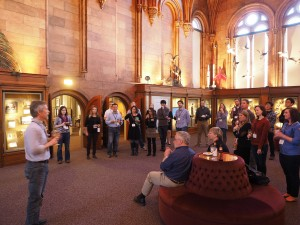 Dr. Emmett Duffy welcomes the ZEN during a reception at the Smithsonian Castle