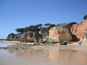 Limestone cliffs of the Algarve coast