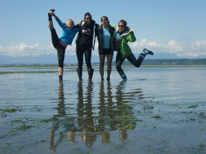 Danielle (left) and the BC team celebrate a successful ZEN sampling